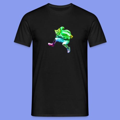 cat jump rainbow png - Men's T-Shirt
