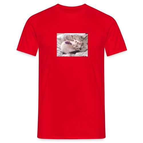 CAT SURROUNDED BY MICE AND BUTTERFLIES. - Men's T-Shirt