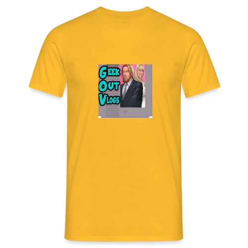 GeekOut Vlogs NES logo - Men's T-Shirt