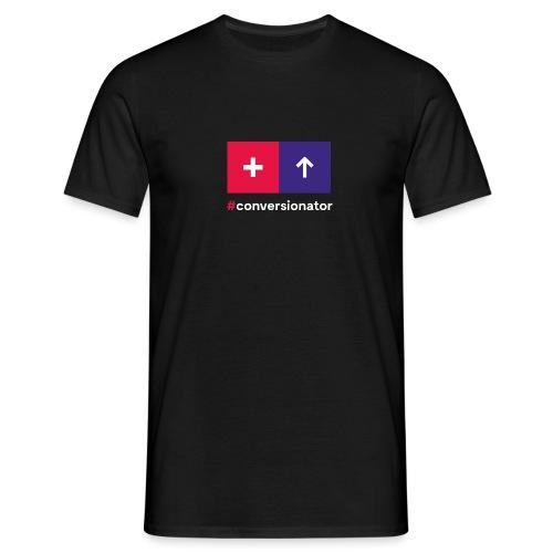 Conversionator mit Plus & Pfeil - Männer T-Shirt