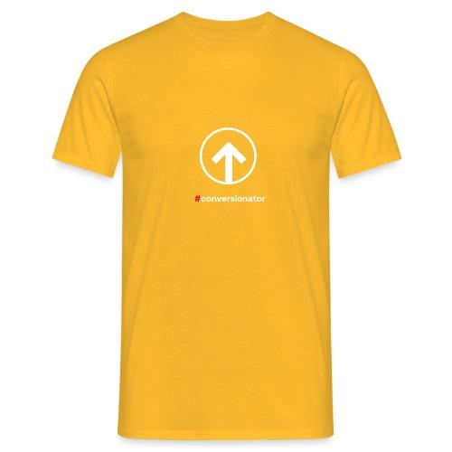 Conversionator mit Pfeil (weiß) - Männer T-Shirt