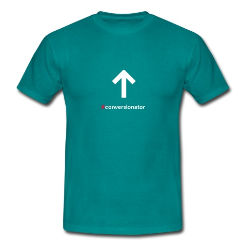 Conversionator mit Pfeil ohne Kreis - Männer T-Shirt