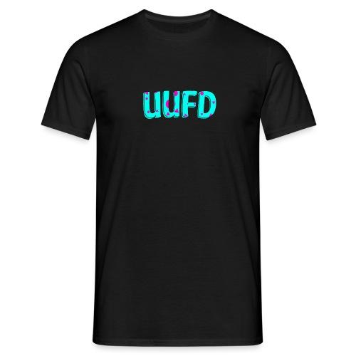 80s logo trui blauw roze png - Mannen T-shirt