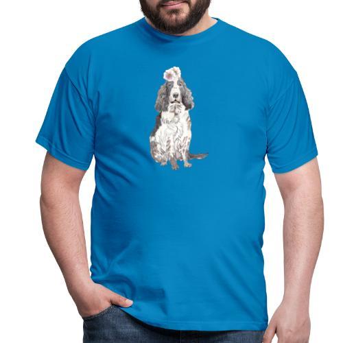 English cocker spaniel with flower - Herre-T-shirt