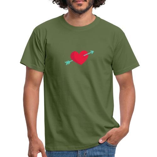 Corazón atravesado por una flecha - Camiseta hombre