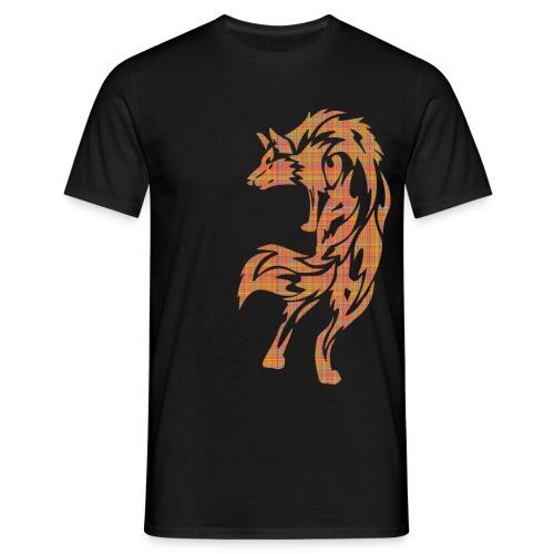 wolf karo png - Männer T-Shirt