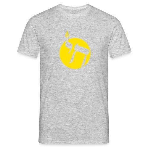 hai transp jaune fire png - T-shirt Homme