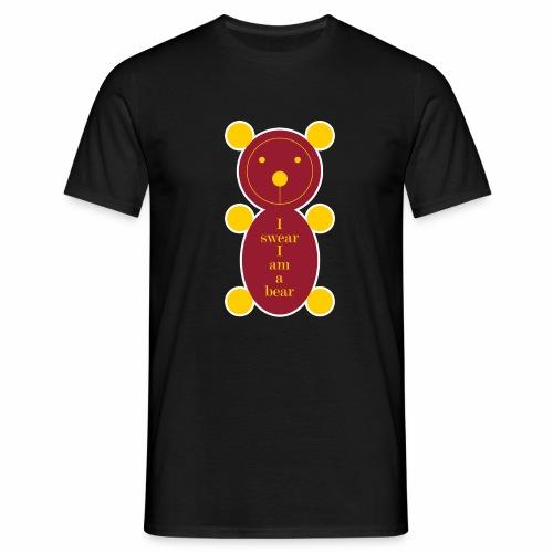 I swear I am a bear 001 - Mannen T-shirt