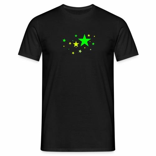 Sterne dreifarbig Vektor - Männer T-Shirt