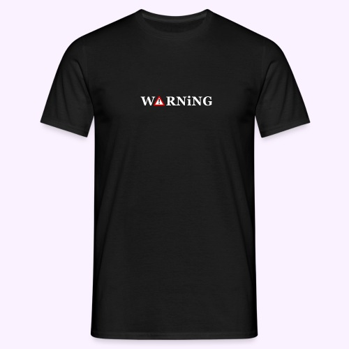 Front Warning Black - Camiseta hombre