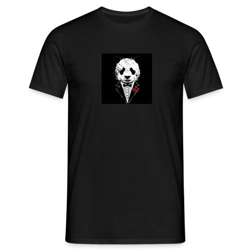 strak in panda pak - Mannen T-shirt