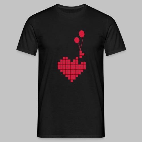 heart and balloons - Men's T-Shirt