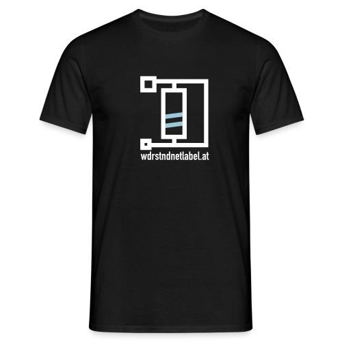 logo fat wht url - Men's T-Shirt