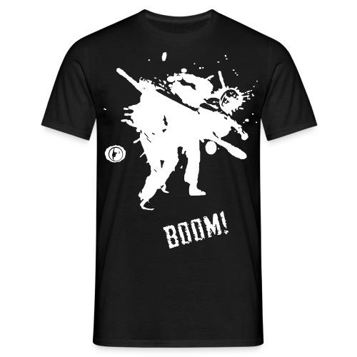 bkc boom on black - Men's T-Shirt