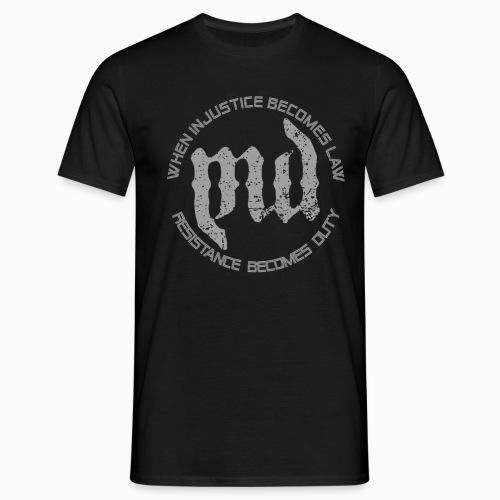 Mass Deception Resistance (grey print) - Mannen T-shirt