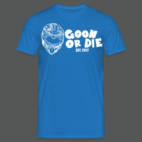 GOON OR DIE Helm & Schrift Weiß - Männer T-Shirt