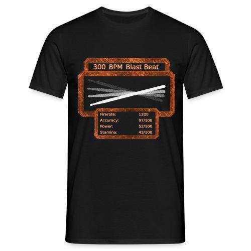 300 BPM Blast Beat - Männer T-Shirt