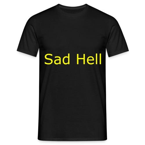 Sad Hell Plain Text - Men's T-Shirt