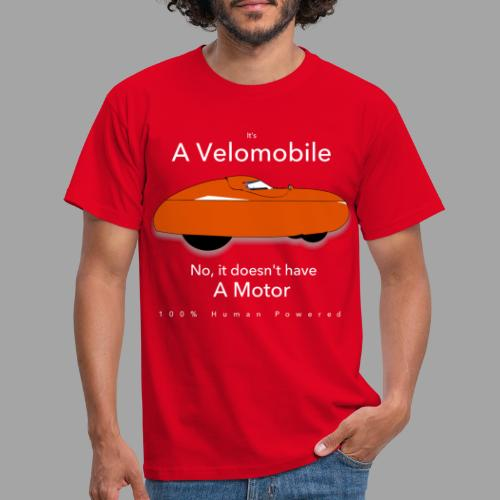 it's a velomobile white text - Miesten t-paita