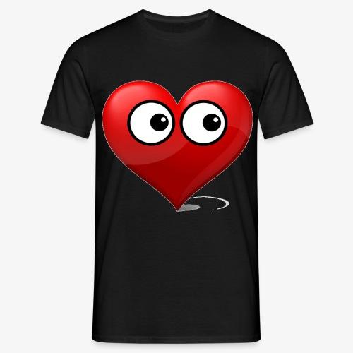 cœur avec yeux - T-shirt Homme