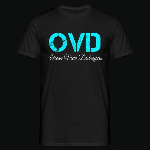 ovd blue text - Men's T-Shirt