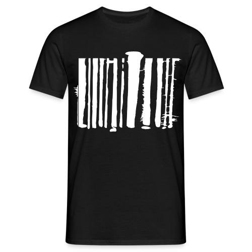 Strichcode - Männer T-Shirt