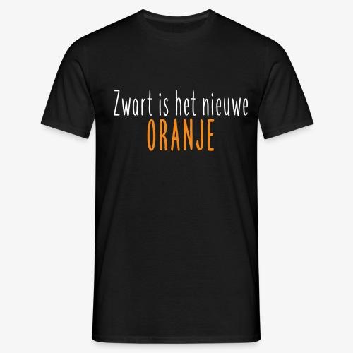 Zwart is het nieuwe oranje - Mannen T-shirt