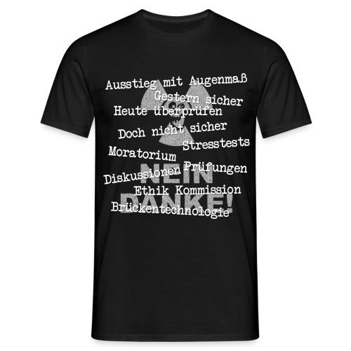 T-Shirt Mann Ausstieg mit Augenmaß 05d© by kally - Männer T-Shirt