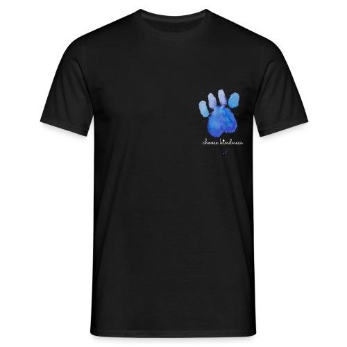 Tierfreund Choose Kindness Hundepfote Wasserfarben - Männer T-Shirt