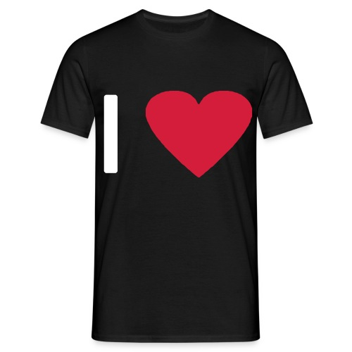 I love - Heart (modern) - Männer T-Shirt
