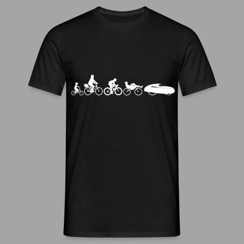Bicycle evolution white - Miesten t-paita