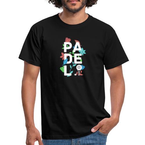 Padeltennis minimalism design med blommor & växter - T-shirt herr
