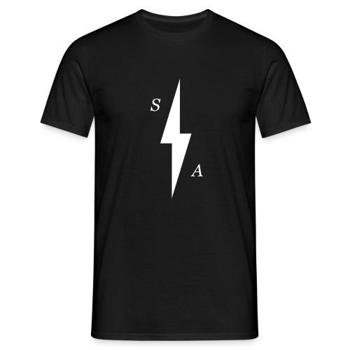 White SA Bolt - Men's T-Shirt