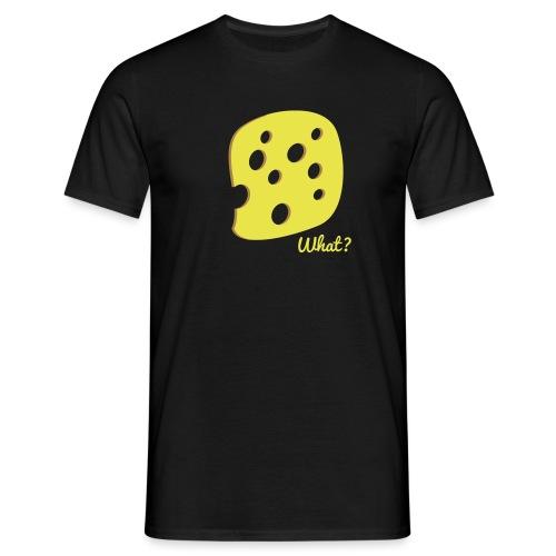 What? Logo - Männer T-Shirt
