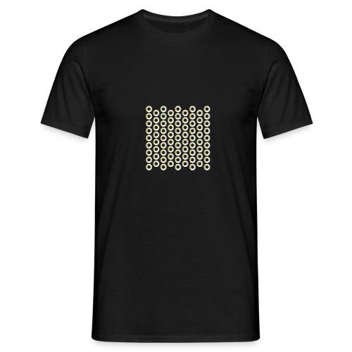 linea pattern circle - Männer T-Shirt