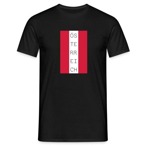 Österreich Flagge hoch - Männer T-Shirt