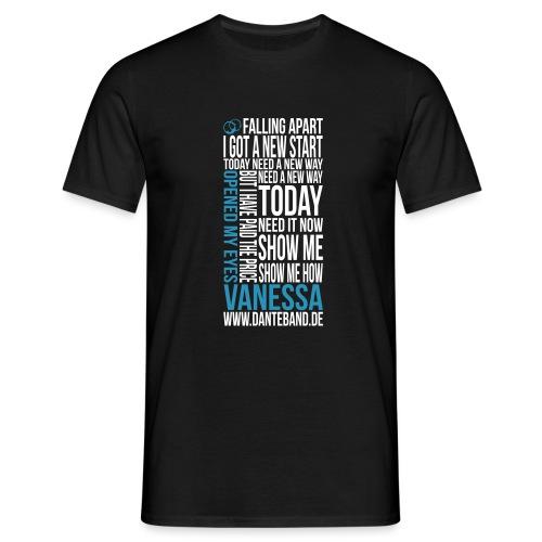 t-shirt vanessa outline - Männer T-Shirt