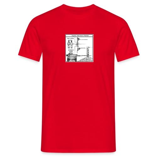 W.O.T War tactic, tank shot - Men's T-Shirt