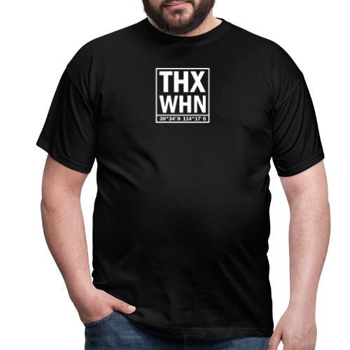 THX WHN Koordinaten - Thanks Wuhan (weiss) - Männer T-Shirt
