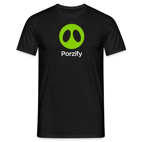 porzify logo - Men's T-Shirt