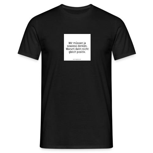 denken - Männer T-Shirt
