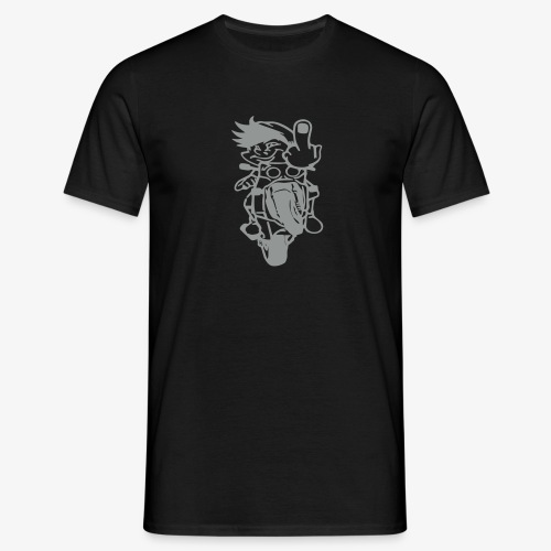 Wheelie Stinkefinger - Männer T-Shirt