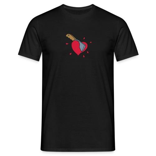 Broken Hearts Love Hate Axe Knife Messer Axt Kill - Männer T-Shirt