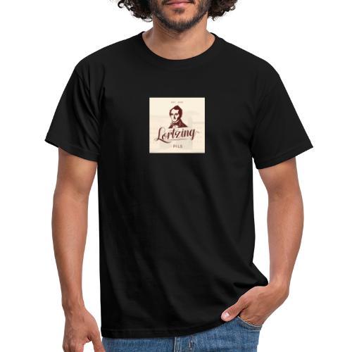 LORTZING® PILS Retro-Etikett farbig - Männer T-Shirt