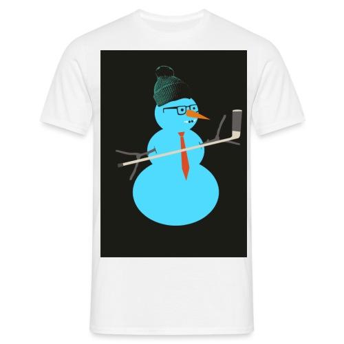 Hockey snowman - Miesten t-paita