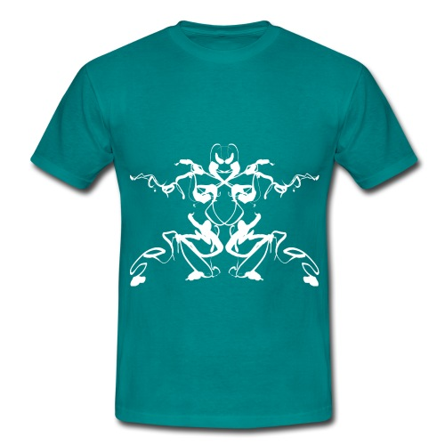 Rorschach test of a Shaolin figure Tigerstyle - Men's T-Shirt