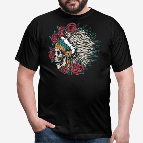 indische Schädelrosen - Männer T-Shirt