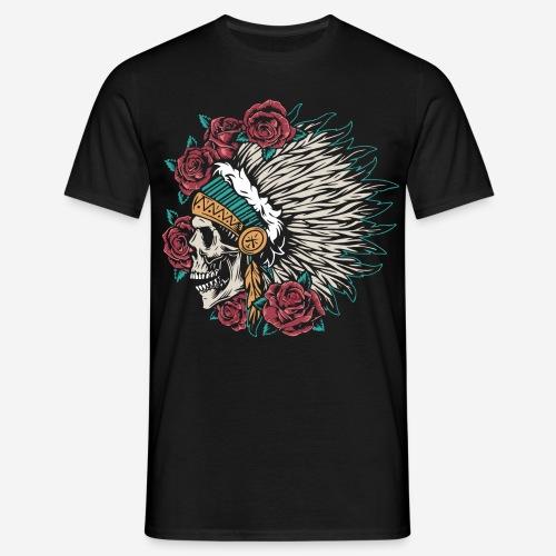 indian skull roses - Männer T-Shirt