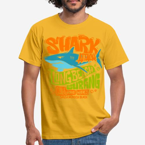 Hai-Surf-Surfen california - Männer T-Shirt