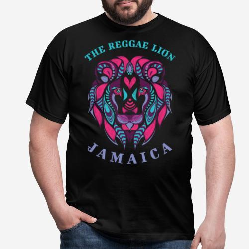 Reggae Löwe jamaica - Männer T-Shirt